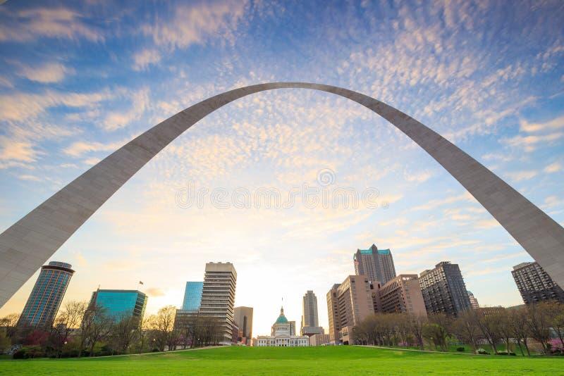 Ciudad del horizonte de St Louis fotografía de archivo