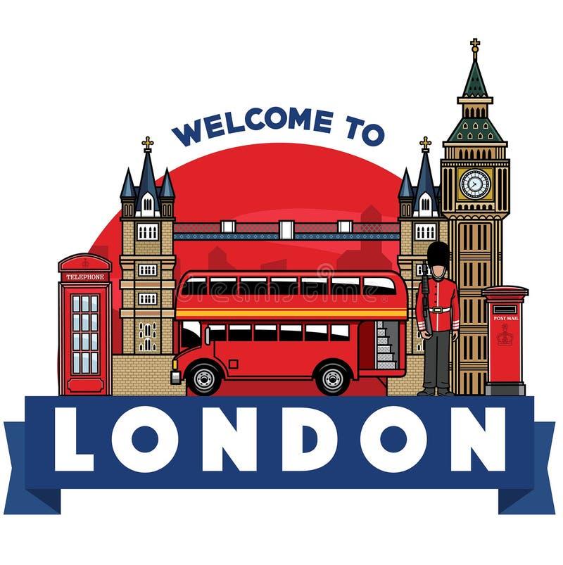 Ciudad del icono de Reino Unido stock de ilustración