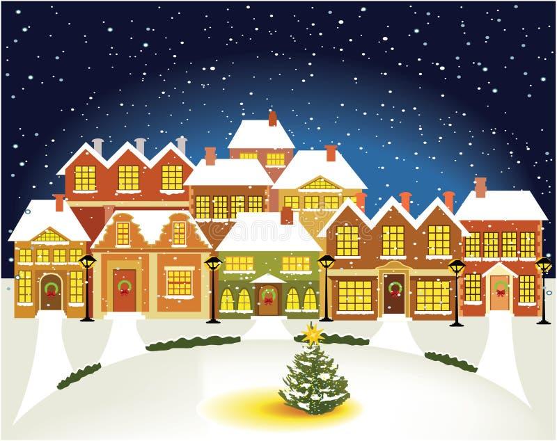Ciudad del invierno stock de ilustración