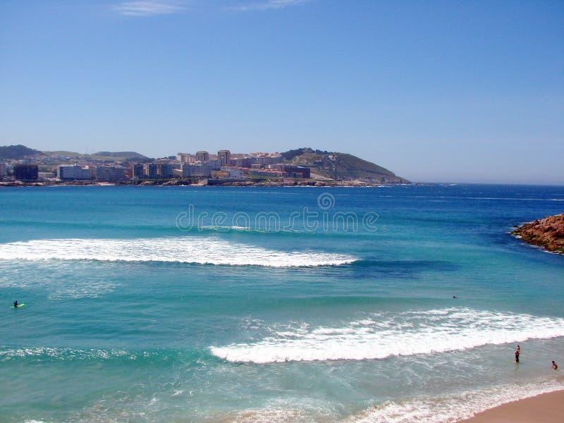 Ciudad del La Coruña españa Paisajes marinos de la costa española foto de archivo libre de regalías