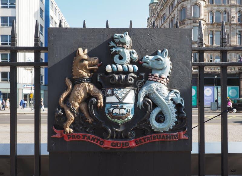 Ciudad del lema de Belfast en Belfast imagen de archivo libre de regalías
