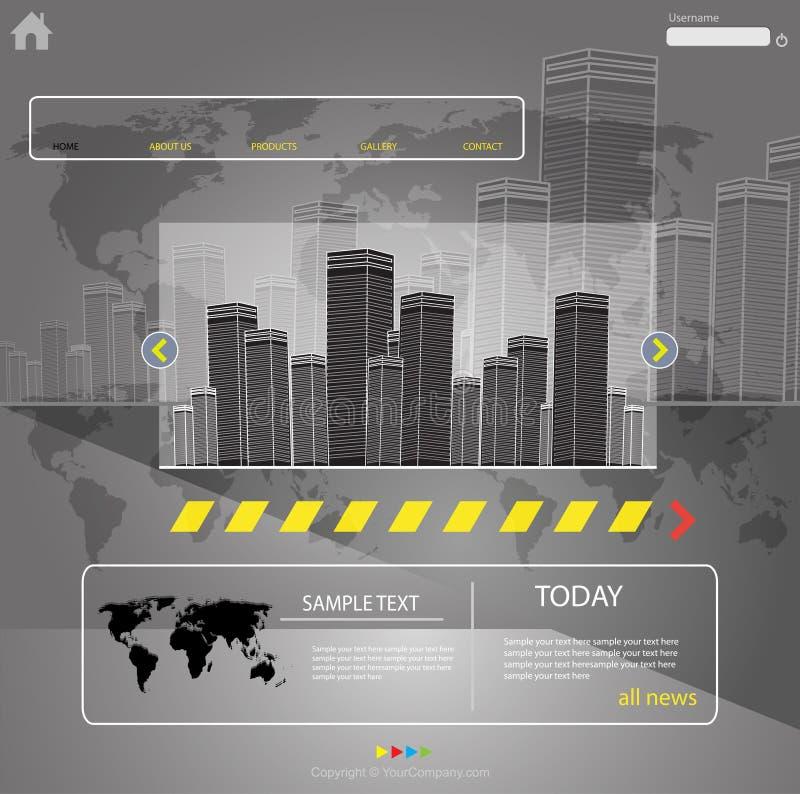 Ciudad del modelo del Web ilustración del vector