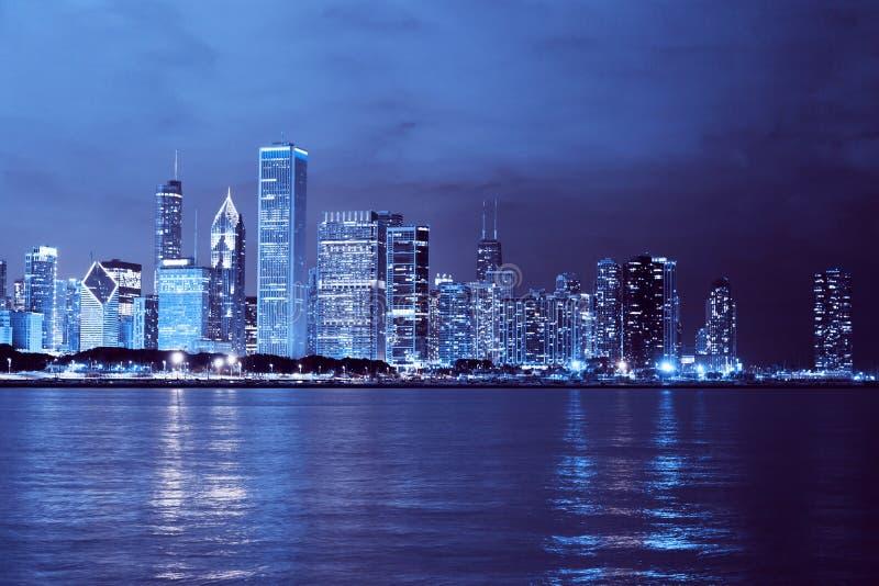 Ciudad del negocio (Chicago) fotografía de archivo