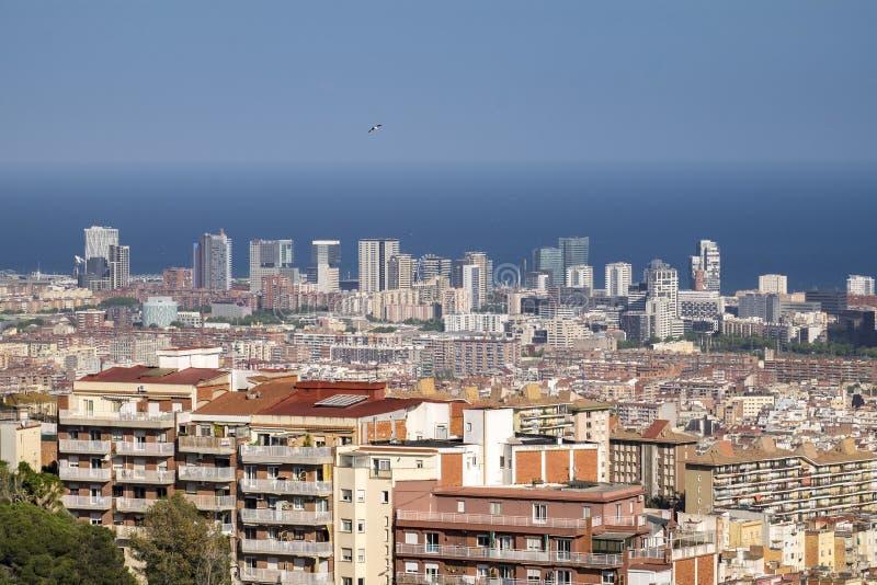 Ciudad del paisaje urbano de Barcelona en Cataluña foto de archivo