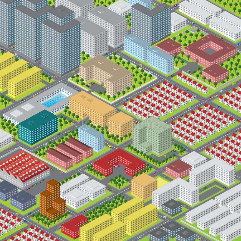 Ciudad del pixel ilustración del vector