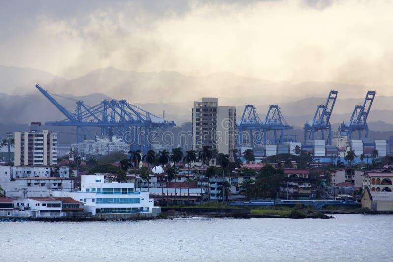 Ciudad del puerto del ` s de Panamá imagen de archivo libre de regalías