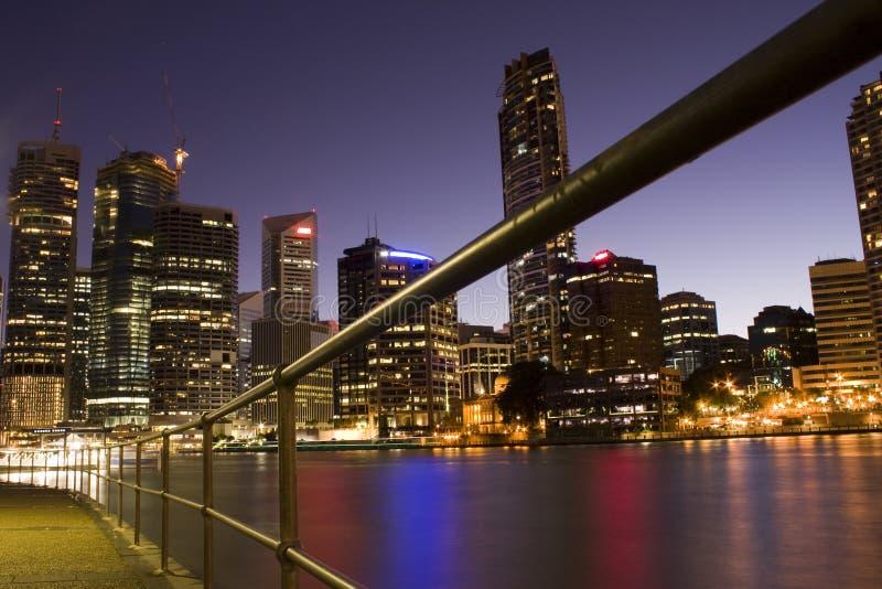 Ciudad del río de Brisbane fotos de archivo libres de regalías