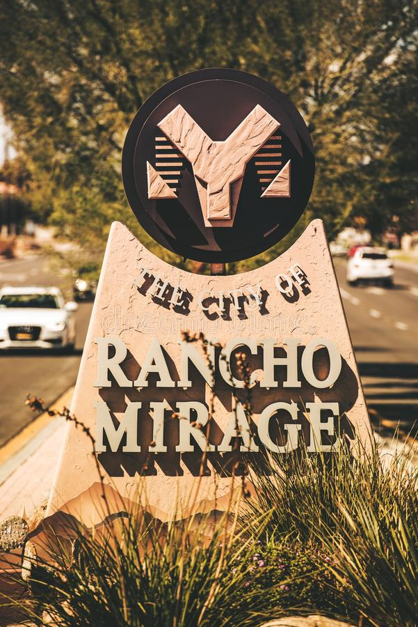 Ciudad del Rancho Mirage fotos de archivo