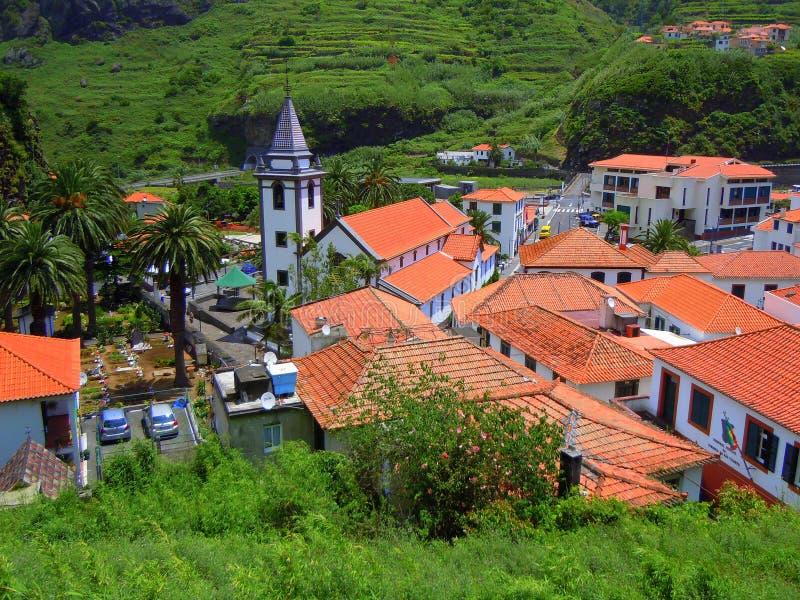 Ciudad del sao Vicente en Madeira foto de archivo
