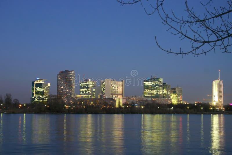Ciudad del UNO en Viena - Austria imagen de archivo libre de regalías