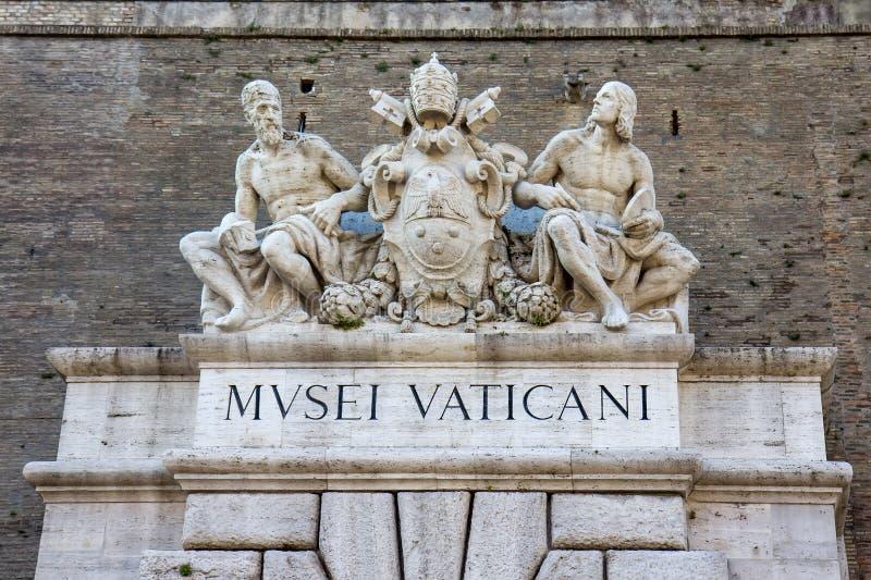 Ciudad del Vaticano, puerta principal del museo del Vaticano foto de archivo