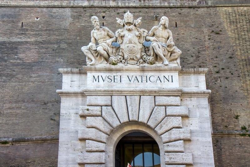 Ciudad del Vaticano, puerta principal del museo del Vaticano fotos de archivo