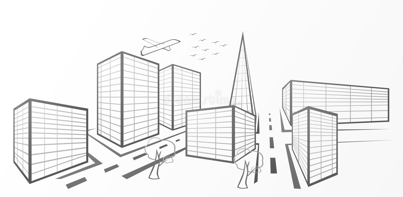Ciudad del vector ilustración del vector