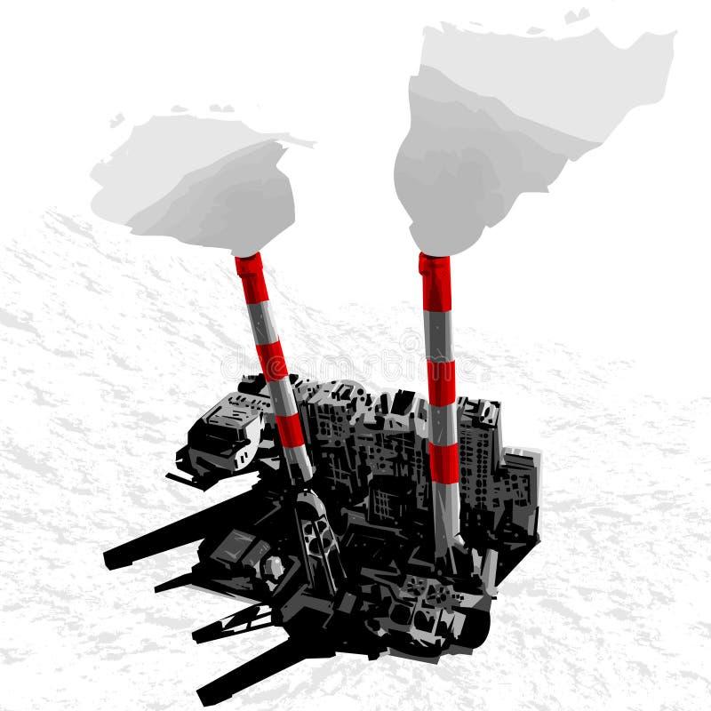 ciudad del vector 3D stock de ilustración