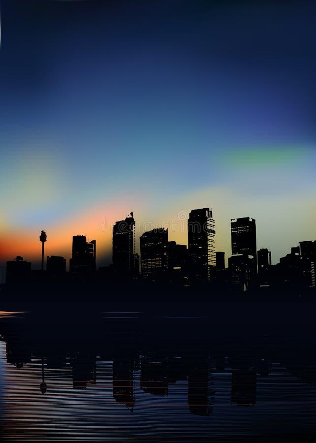 Ciudad del vector por la mañana libre illustration