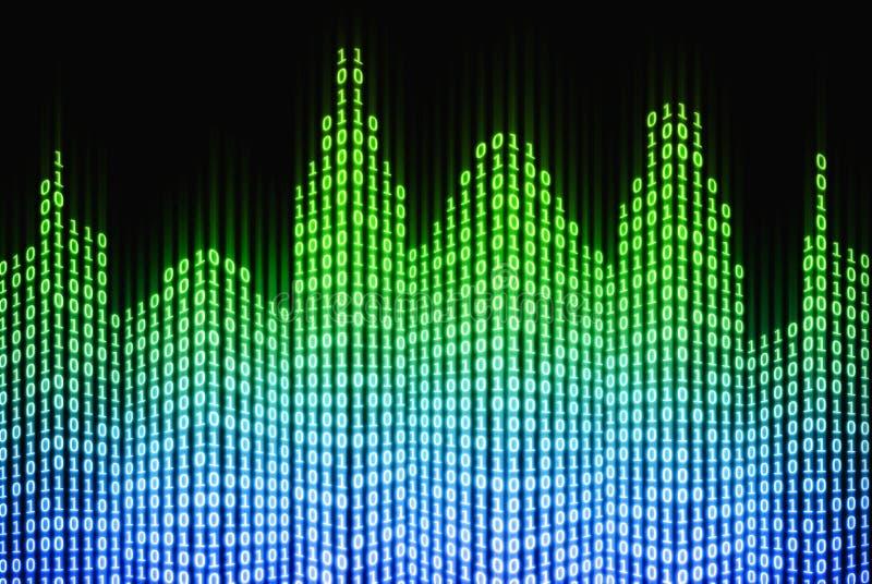Ciudad digital binaria, fondo abstracto de la tecnología 3d ilustración del vector