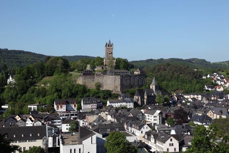 Ciudad Dillenburg, Alemania imagen de archivo