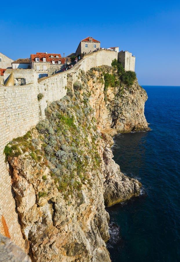Ciudad Dubrovnik en Croatia fotos de archivo