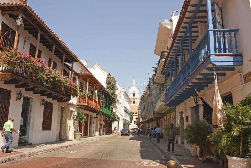 Ciudad emparedada, Cartagena foto de archivo libre de regalías