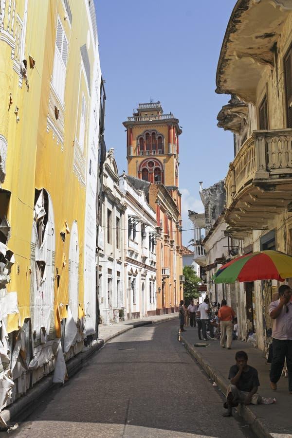 Ciudad emparedada, Cartagena imagen de archivo libre de regalías