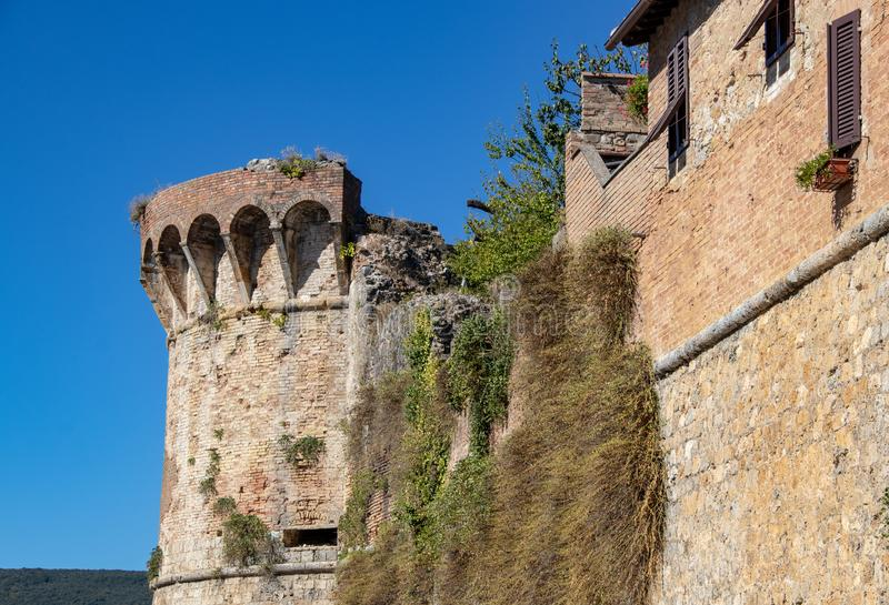 Ciudad emparedada de San Gimignano fotografía de archivo