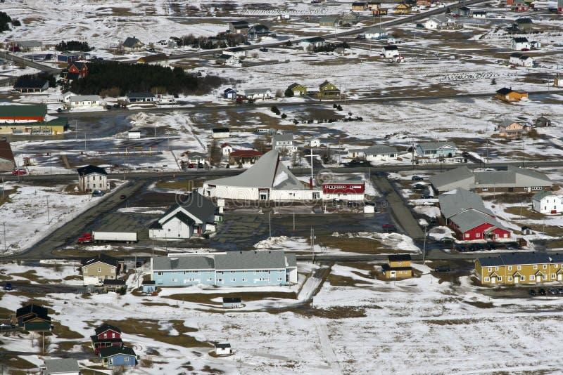 Ciudad en el ártico canadiense fotografía de archivo libre de regalías