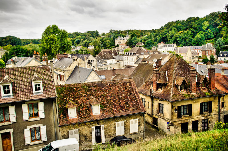 Ciudad en Francia imagenes de archivo