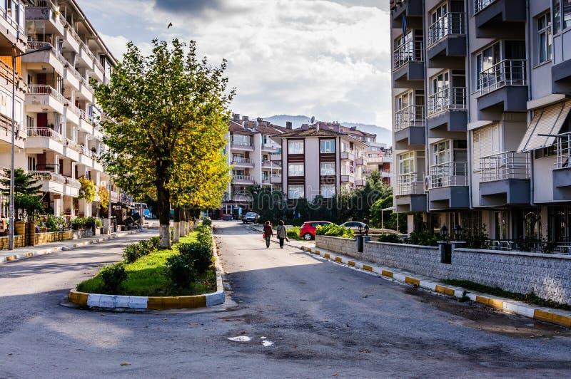 Ciudad en otoño - Turquía de Cinarcik fotografía de archivo libre de regalías