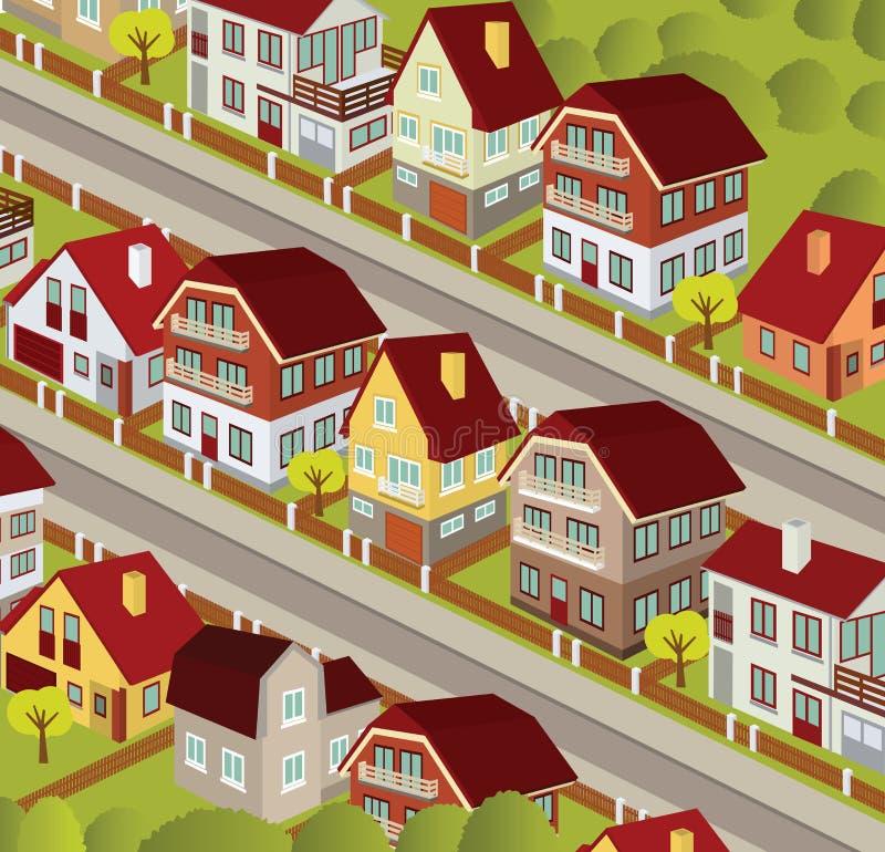 Ciudad en perspectiva stock de ilustración
