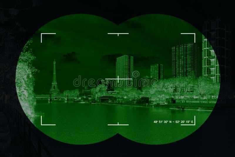 Ciudad en retículos ilustración del vector
