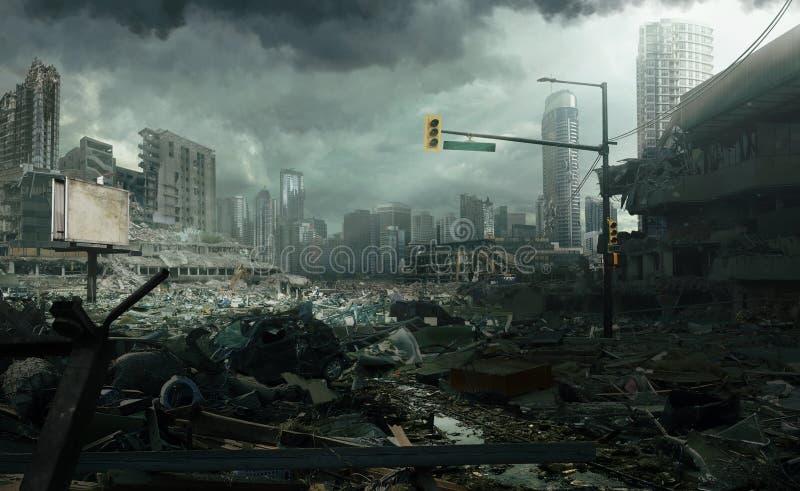 Ciudad en ruinas imagenes de archivo