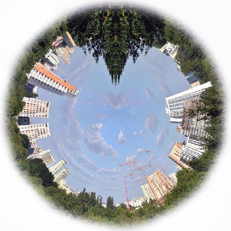 Ciudad en una esfera foto de archivo libre de regalías