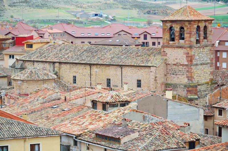 Ciudad española Molina de Aragón foto de archivo