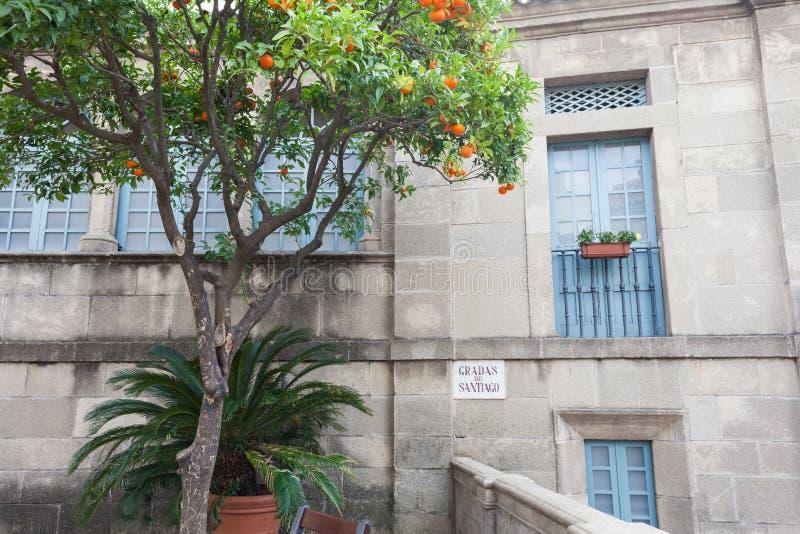 Ciudad española (Poble Espanyol) - museo arquitectónico debajo del cielo abierto fotos de archivo libres de regalías