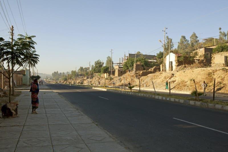 Ciudad etíope imagen de archivo