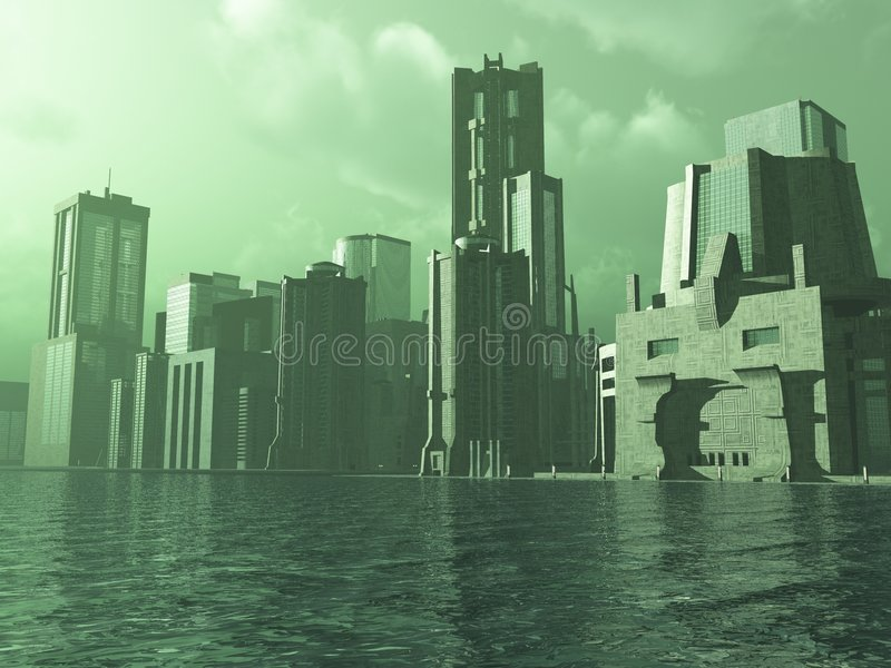 Ciudad extranjera libre illustration