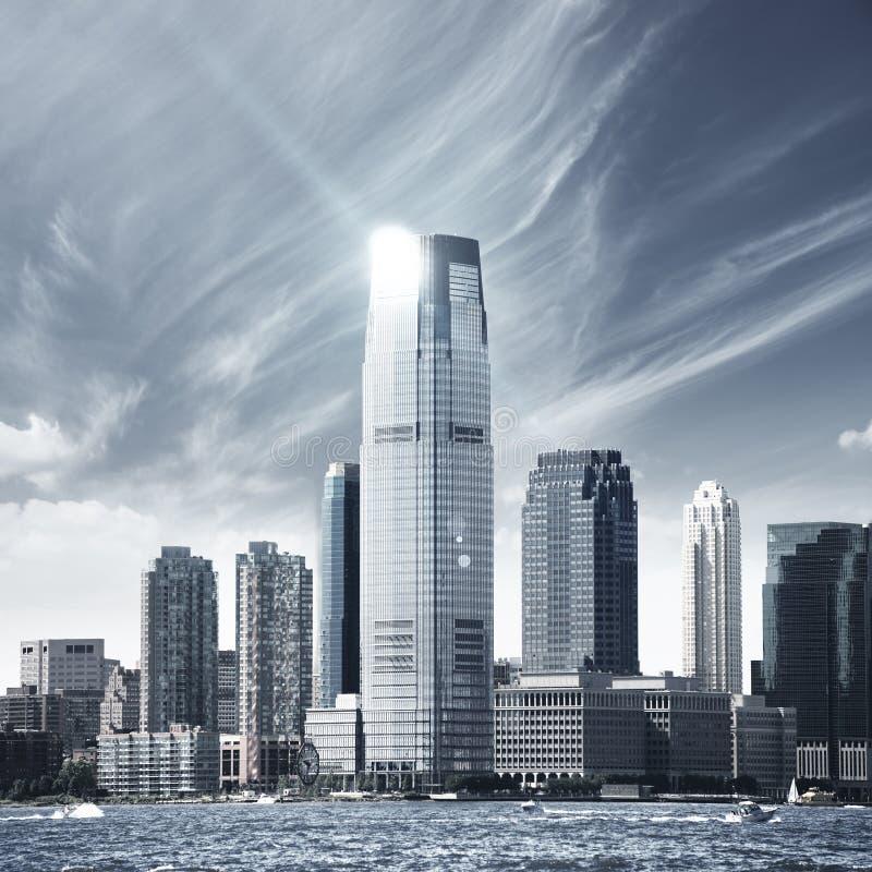 Ciudad futura NYC fotos de archivo libres de regalías