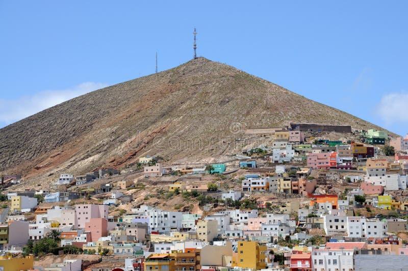 Ciudad Galdar en canario magnífico imagen de archivo libre de regalías