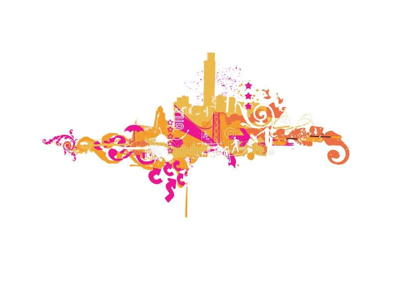 Ciudad grande stock de ilustración