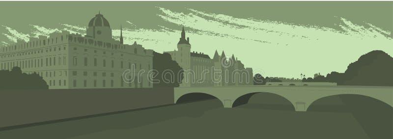 Ciudad grande ilustración del vector