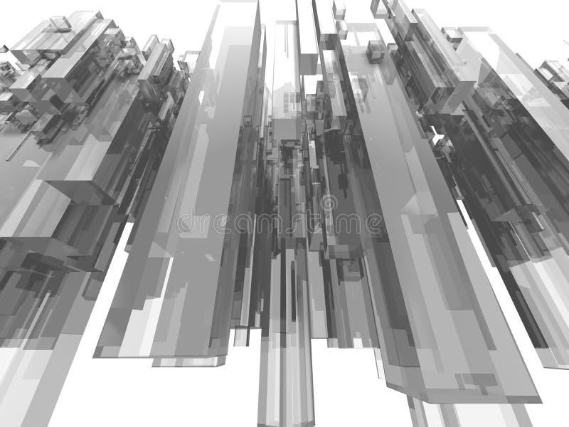Ciudad grande del vuelo stock de ilustración