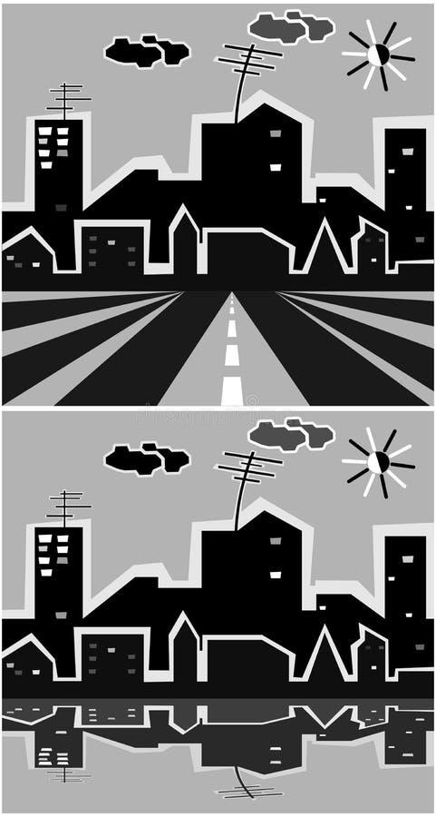 Ciudad gris stock de ilustración