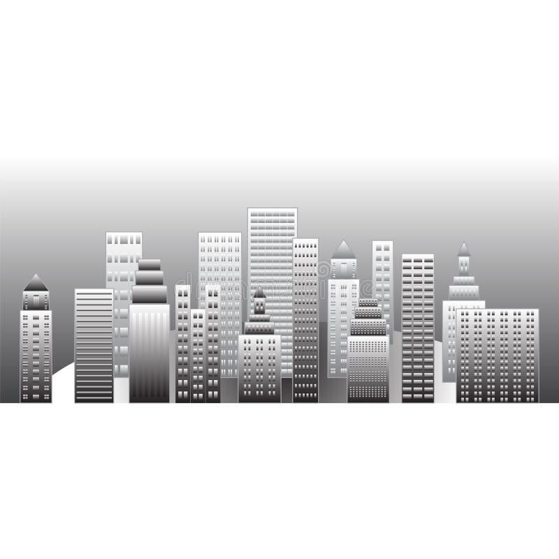 Ciudad gris libre illustration