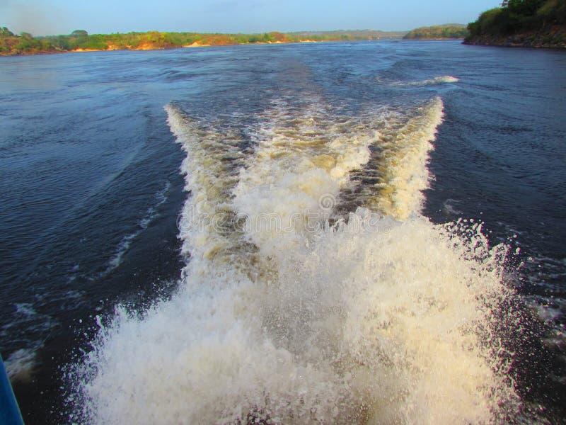 On the Rio Caroni stock photography