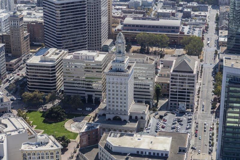 Ciudad Hall Aerial de Oakland imagen de archivo libre de regalías