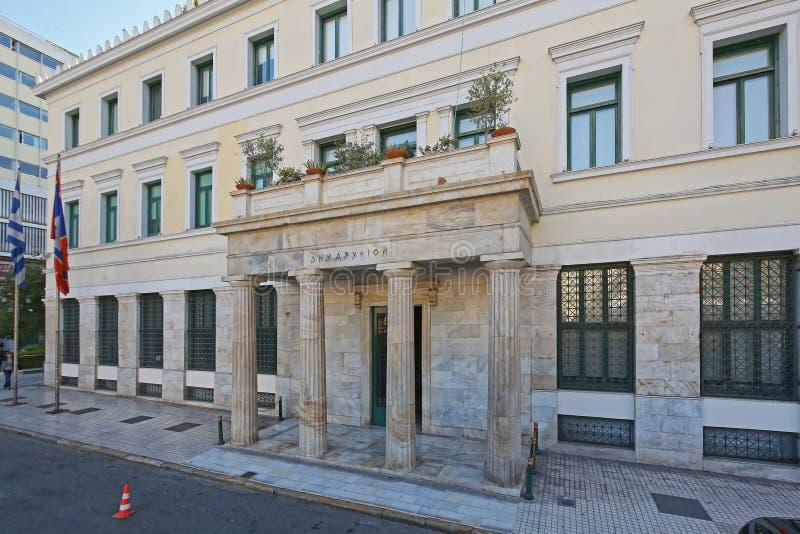 Ciudad Hall Athens fotos de archivo