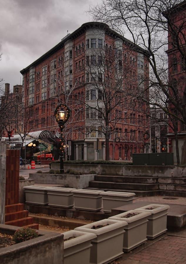 Ciudad Hall Commons imagen de archivo