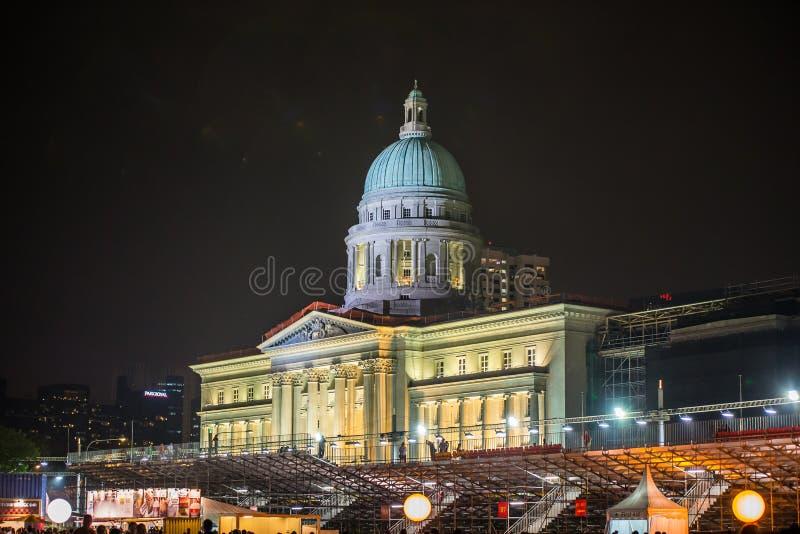 Ciudad Hall Singapore foto de archivo libre de regalías