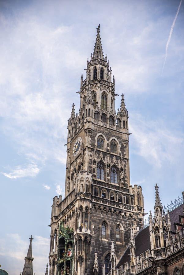 Ciudad Hall Tower de Munchen foto de archivo libre de regalías