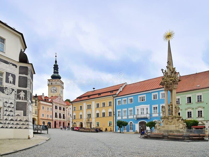 Ciudad hermosa de Mikulov imagen de archivo